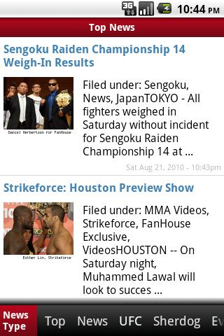 MMA Sports News Android Sports