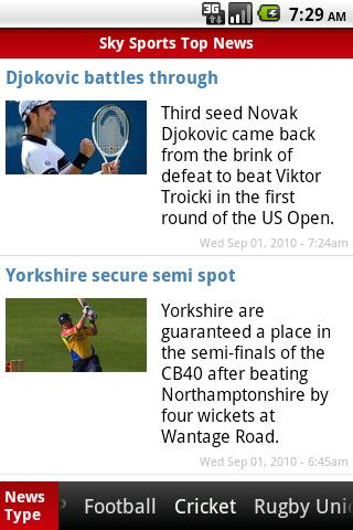 UK Sports News (sky) Android Sports