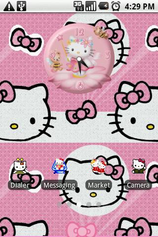 cute hello kitty theme android themes best android apps free download