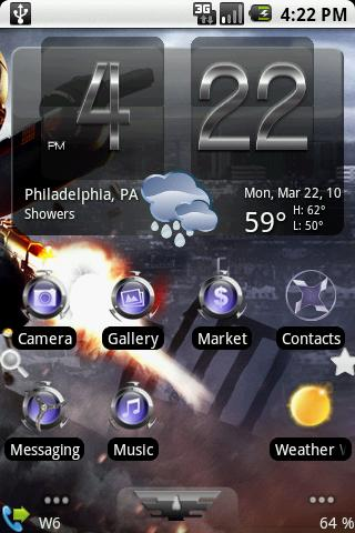 Shinier weather skin Android Themes