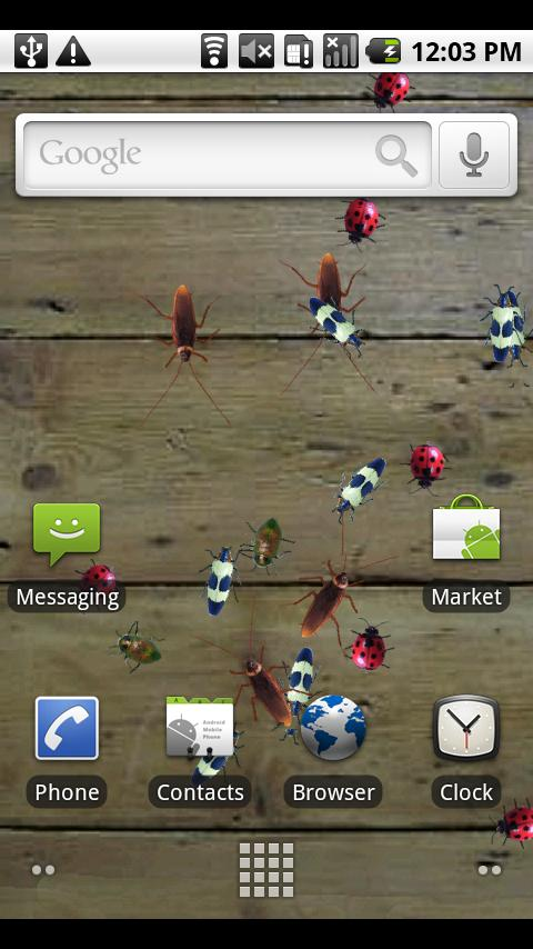 Bugz Live Wallpaper Android Themes