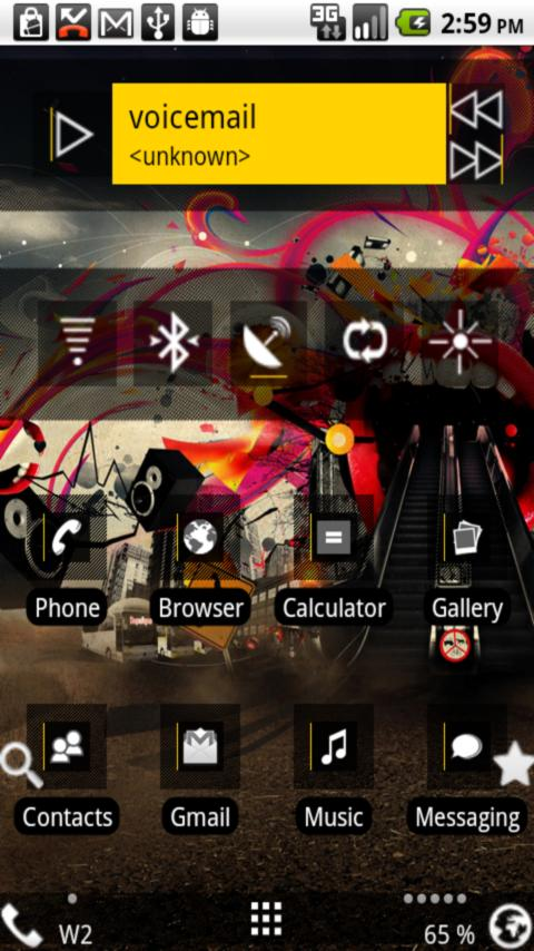 Open Home Skin: Dark Edge HD Android Themes
