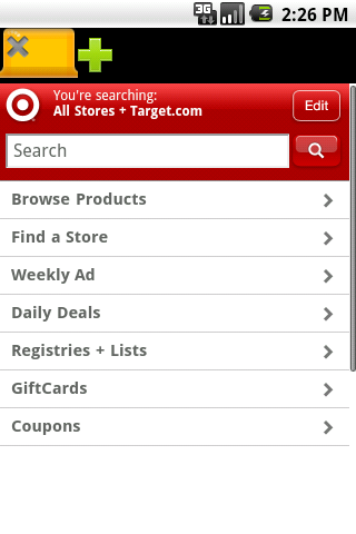 Target Mobile App Android Themes