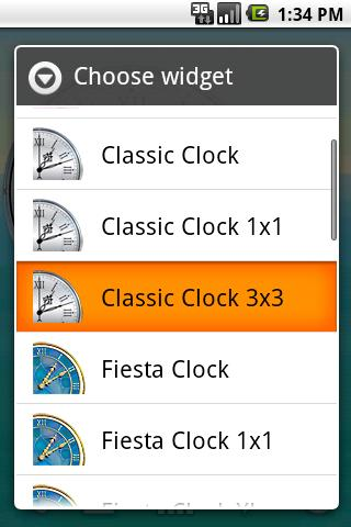 Classic Clock 3×3 Android Themes