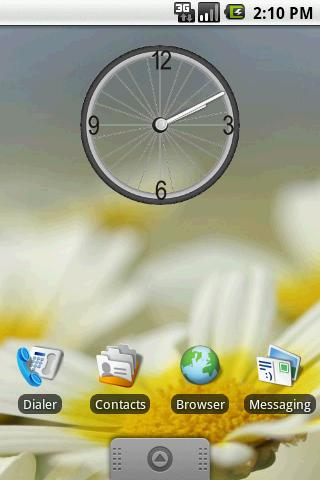 Bicycle Wheel Clock Widget 2×2 Android Themes