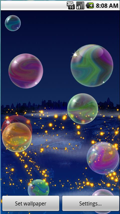 Nicky Bubbles Live Wallpaper L Android Personalization
