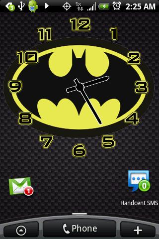 Batman Logo Alarm Clock Widget Android Themes