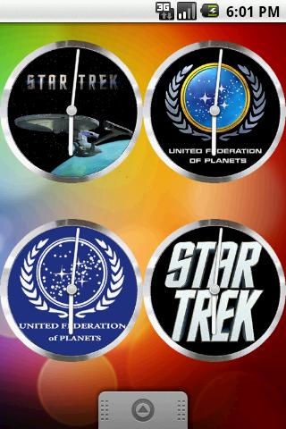 StarTrek Clock Set 9 Clocks Android Themes