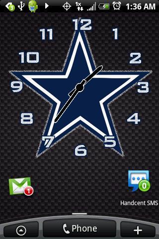Dallas Cowboys Clock Pack Android Themes
