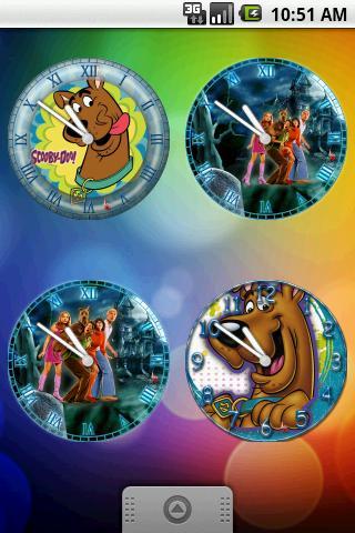 Scooby-Doo Clock Set 8 Clocks Android Themes