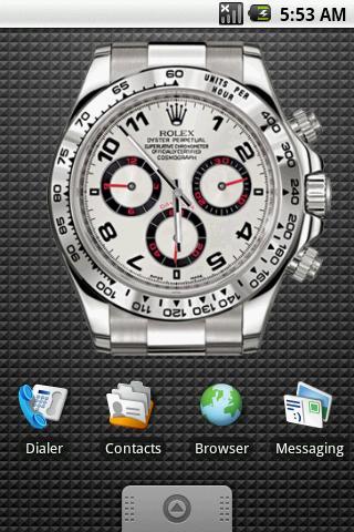 Rolex Clock Widget 4×3 Android Themes