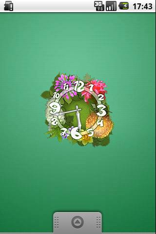 Flower Parade Clock Android Themes