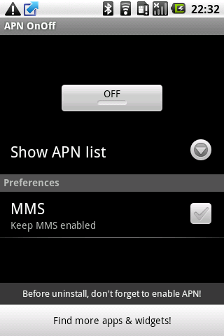 APN OnOff Android Tools