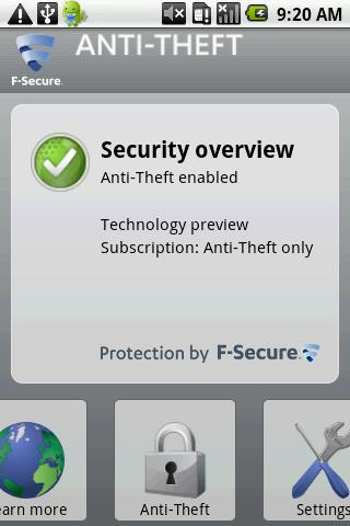 F-Secure Anti-Theft for Mobile Android Tools
