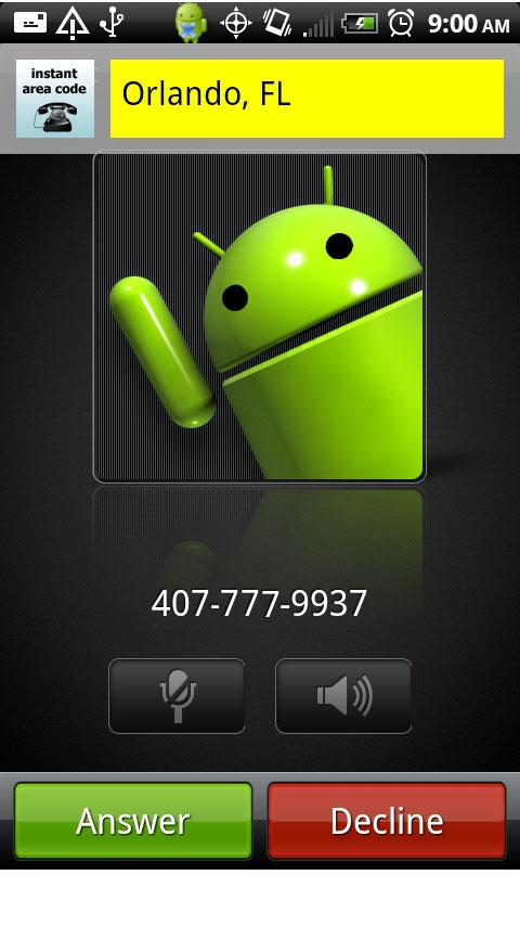 Instant Area Code Android Tools