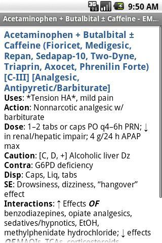 EMS Pocket Drug Guide TR Android Demo