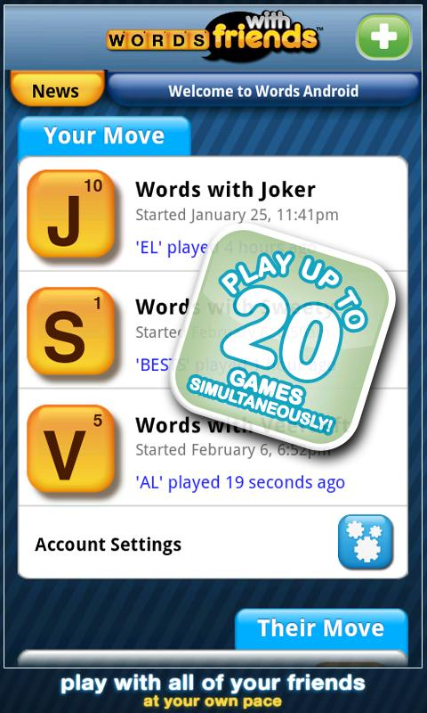 Words With Friends Free Android Brain & Puzzle