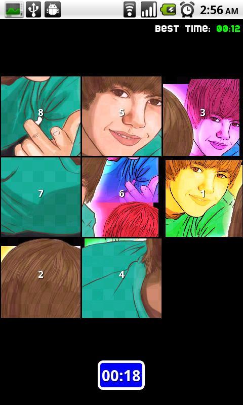 Justin Bieber Puzzle Android Brain & Puzzle