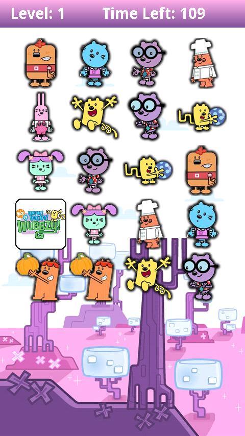 Memory Wubbzy Android Brain & Puzzle