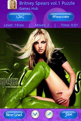 Britney Spears vol.1 Puzzle Android Brain & Puzzle
