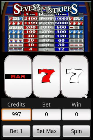 Slots : Sevens and Stripes Android Cards & Casino