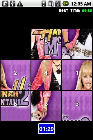 Hannah Montana Slide Puzzle Android Brain & Puzzle