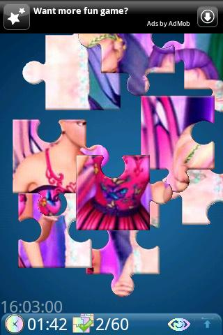 Yo Jigsaw: Barbie Mariposa Android Brain & Puzzle