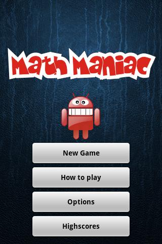 Math Maniac Android Brain & Puzzle