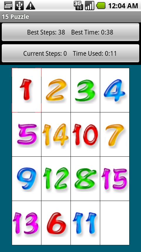 15 Puzzle Free Version Android Brain & Puzzle