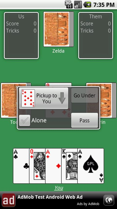 Euchre (free) Android Cards & Casino