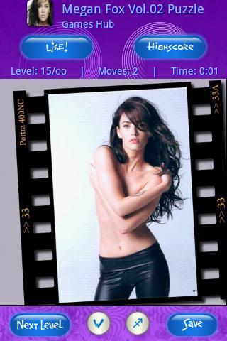 Hot Girl Megan Fox vol2 Puzzle Android Brain & Puzzle