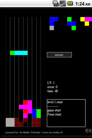 Tetris Cascade Android Brain & Puzzle