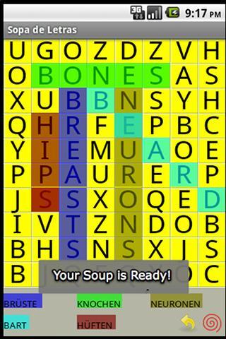 Sopa de Letras Android Brain & Puzzle