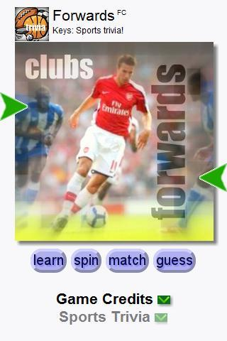 Football Forwards (Keys) Android Brain & Puzzle