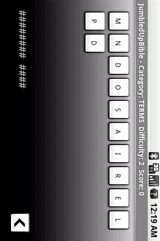 Jumbled Up Bible Words Android Brain & Puzzle