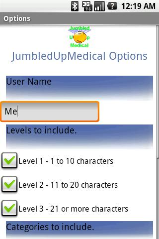Jumbled Up Medical Words Android Brain & Puzzle