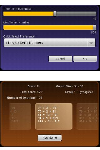 CountDown Calculation Android Brain & Puzzle