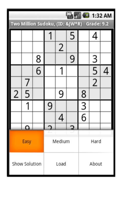 Two Million Sudoku Android Brain & Puzzle