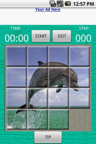 15 square puzzle: Dolphin Android Brain & Puzzle