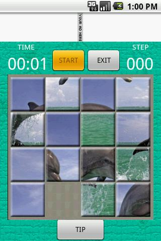 15 square puzzle: Dolphin Android Brain & Puzzle