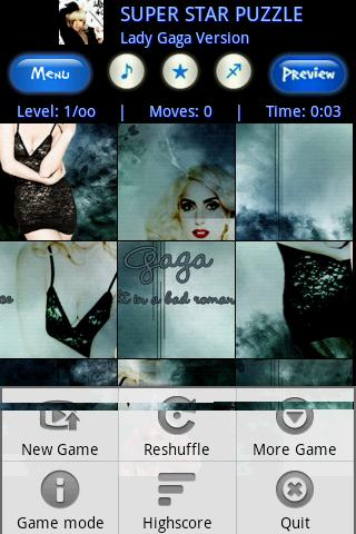 HOT girl Lady Gaga  fan Puzzle Android Brain & Puzzle