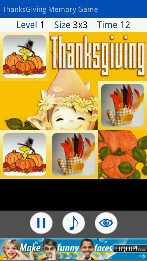 ThanksGiving Memory Game Android Casual
