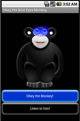 Obey the Blue Eyes Monkey Android Casual