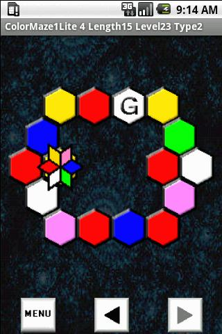 ColorMaze Hex1 Lite Android Brain & Puzzle