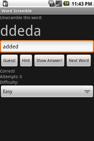 Word Scramble Android Brain & Puzzle