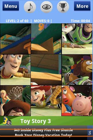 Toy Story 3 – Puzzle Android Brain & Puzzle