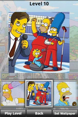 The Simpsons XL Puzzle Jigsaw Android Brain & Puzzle