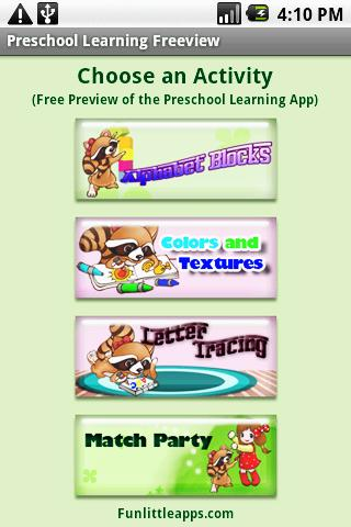 Preschool Learning Freeview Android Casual