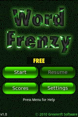 Word Frenzy Free Android Brain & Puzzle