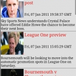 AFC Bournemouth Clocks & News